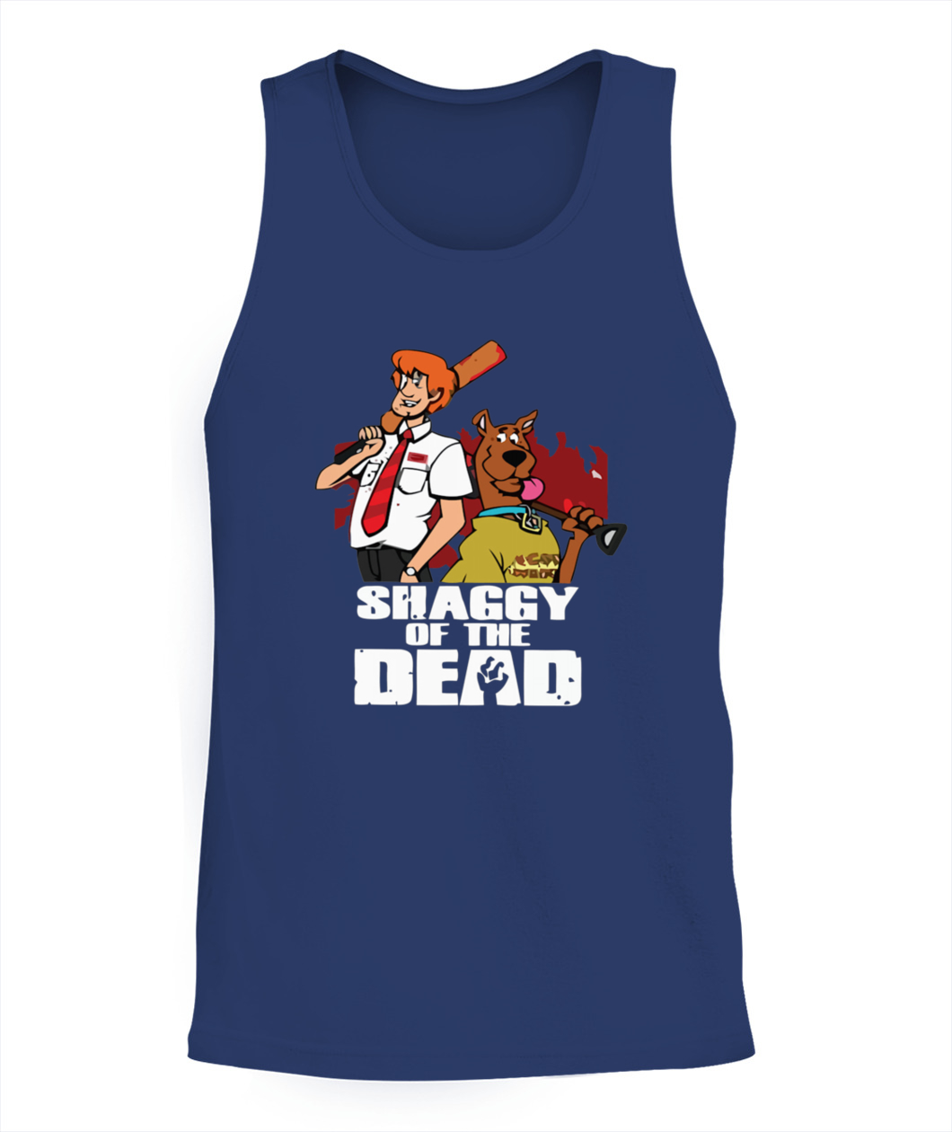 Scooby Doo Cartoon SCOOBY /& SHAGGY 2-Sided All Over Print Poly T-Shirt