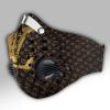 Louis Vuitton Gold In Dark Carbon PM 2,5 Face Mask